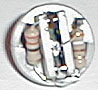 Led socket with resistors