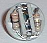 LED socket with resistors